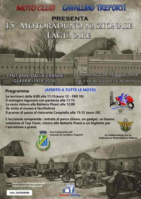 15. Motoraduno nazionale Lagunare 2018